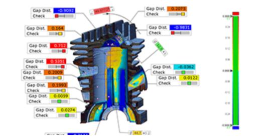 CAD 方式の寸法表示、PMI サポート、包括的な GD&T (幾何公差) コールアウト