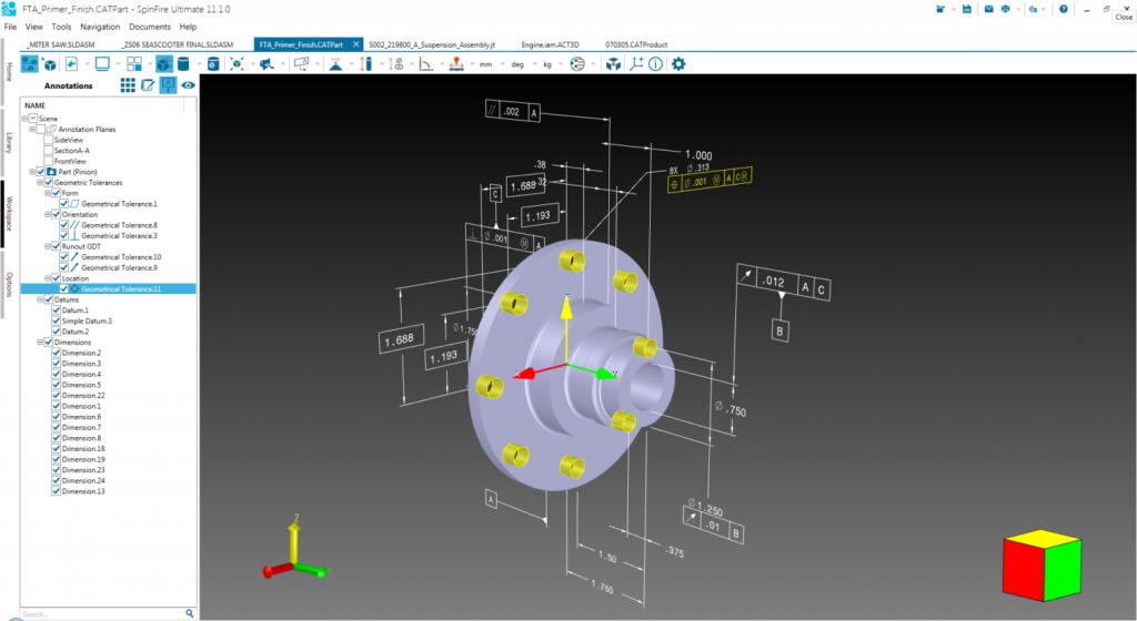 CAD注釈表示