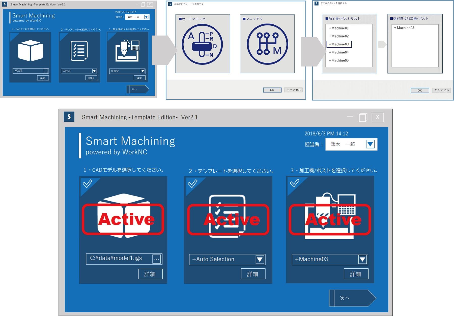 スマート・マシニング オペレーションイメージ