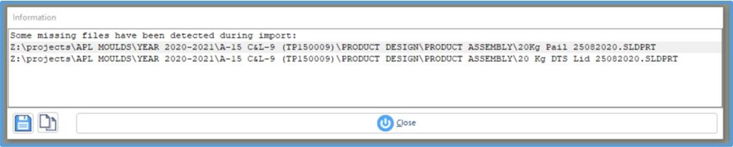 アセンブリインポート時に警告ポップアップを追加