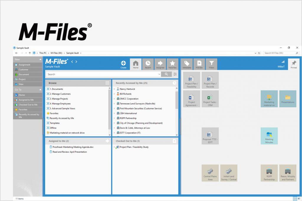 メタベースファイル管理ツール<br>「M-Files」