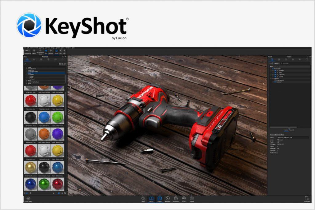 スタンドアロン型フォトリアル3Dレンダラー<br>「KeyShot」