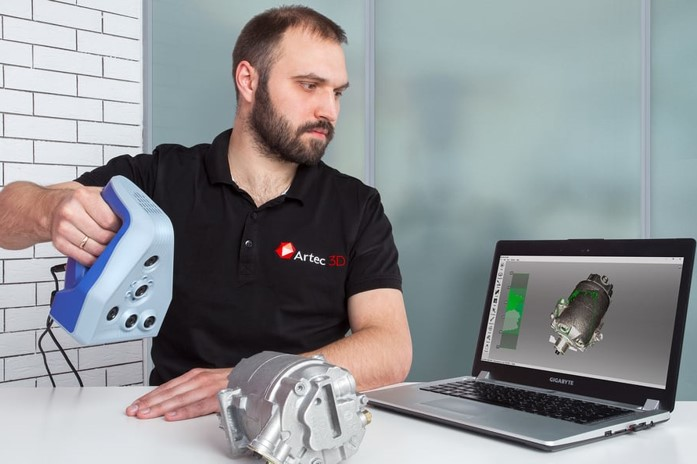 高精度フルカラーハンディ型3Dスキャナ<br>「Artec SpaceSpider」